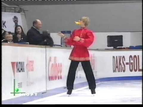 Evgeni Plushenko 1999 NHK Trophy   EX Russian Country  Dance + Crazy Bird + finale - YouTube