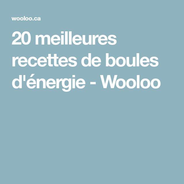 20 meilleures recettes de boules d'énergie - Wooloo