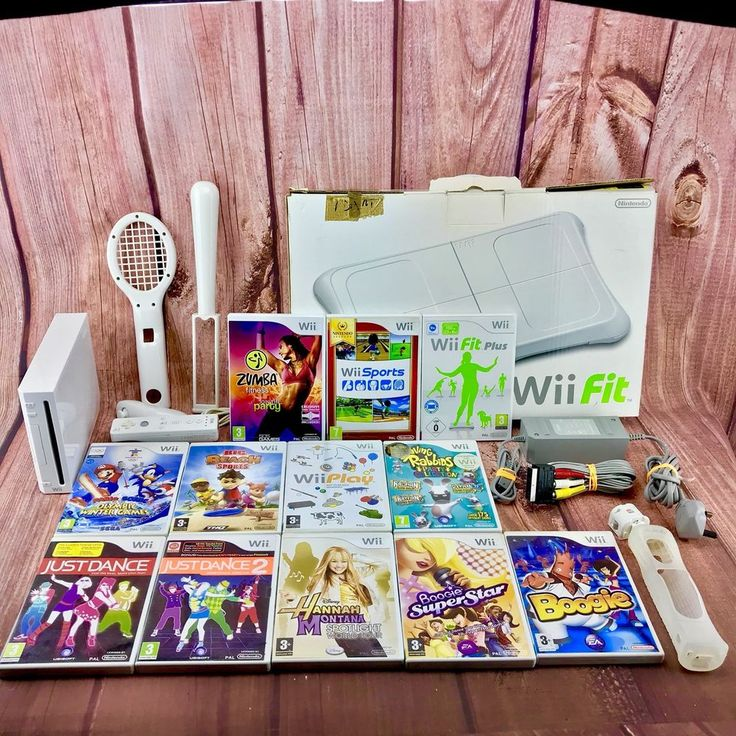 Nintendo Wii Bundle Sports Zumba Fit Dance Play Mario Sonic Beach Fit Board 🎁