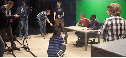 Film making is part of student life at Confetti Institute for Creative Technologies in Nottingham.