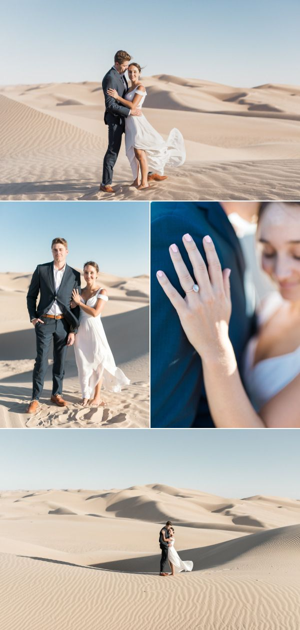 Epic Sand Dune Engagement Shoot – Style Me Pretty