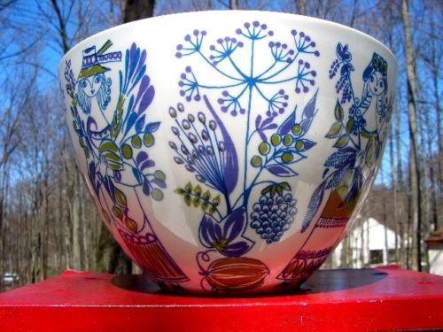 Vintage Mid Century Modern Norway Figgjo Flint Turi Design 'Lotte' Serving Bowl | eBay