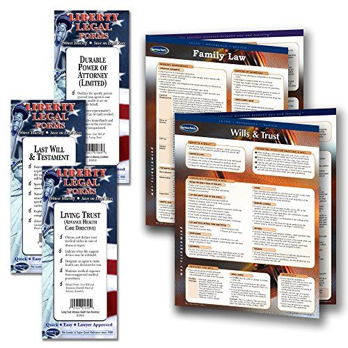 Family Law Legal Planning Kit - Legal Forms (Last Will and Testament, Power of Attorney, Healthcare Directive forms) & 2 laminated Legal Reference Guides  This Family Law planning kit contains 2-blank legal forms for each area of family planning: Last Will and Testament forms, Living Will Advance Healthcare Directive forms and Durable Power of Attorney legal forms. Each contain a quick reference guide on how to complete the legal forms.  The legal planning kit also include 2, 4-page la...