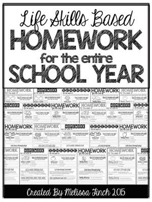 Setting up Homework for the ENTIRE year!