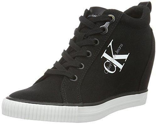 Oferta: 88.9€. Comprar Ofertas de Calvin Klein Jeans Ritzy Canvas, Zapatillas Altas para Mujer, Negro (Black), 37 EU barato. ¡Mira las ofertas!
