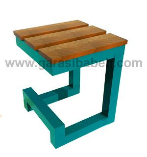 DIY project - ide membuat sendiri kursi taman / cafe dari besi bekas dan kayu rekondisi - DIY project craft and graphic design sourch