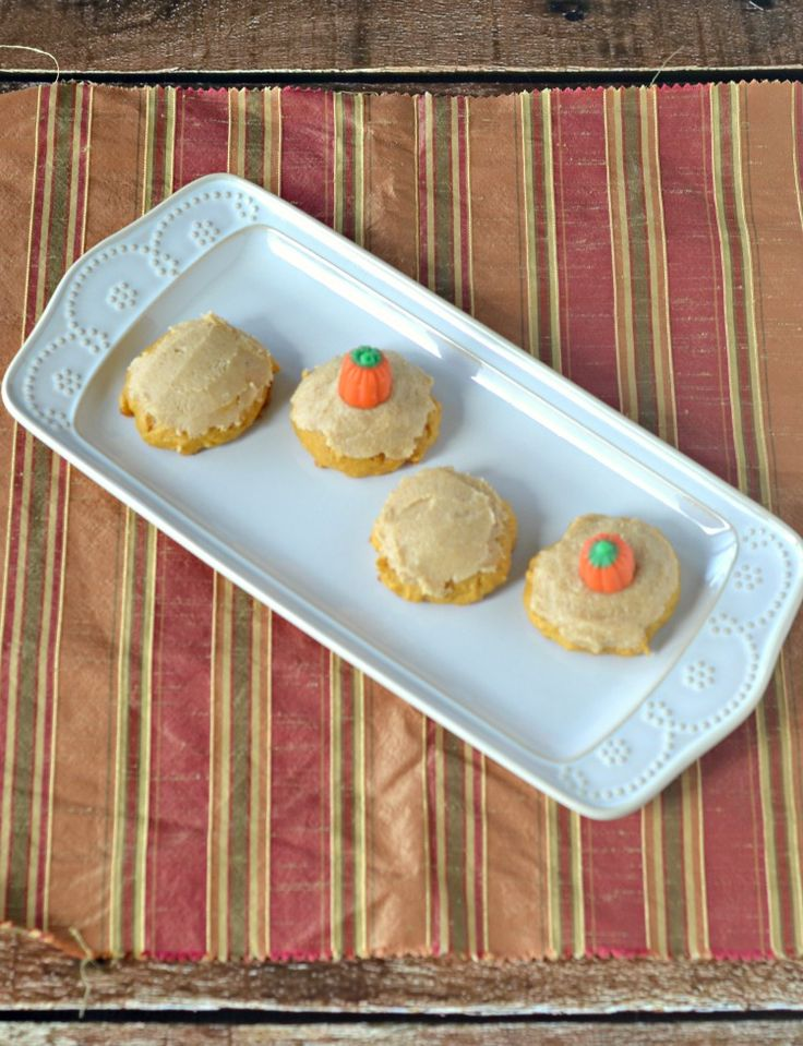 Soft and Chewy Pumpkin Cookies with Brown Butter Frosting