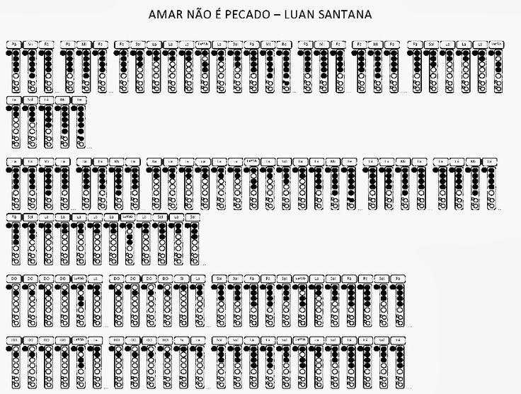 CIFRAS FÁCEIS PARA FLAUTA DOCE: AMAR NÃO É PECADO - LUAN SANTANA