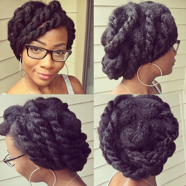 @unearthedamber || Hairstyles for afro hair. hairstyles for natural hair. natural hairstyles. afro hairstyles || Midweek protective style!  I just bobby pinned my chunky twists across my head. Looks complicated but it's easy! ☺️ Try it out!  #UnearthedAmber #protectivestyles