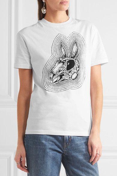 McQ Alexander McQueen - Printed Cotton-jersey T-shirt - White