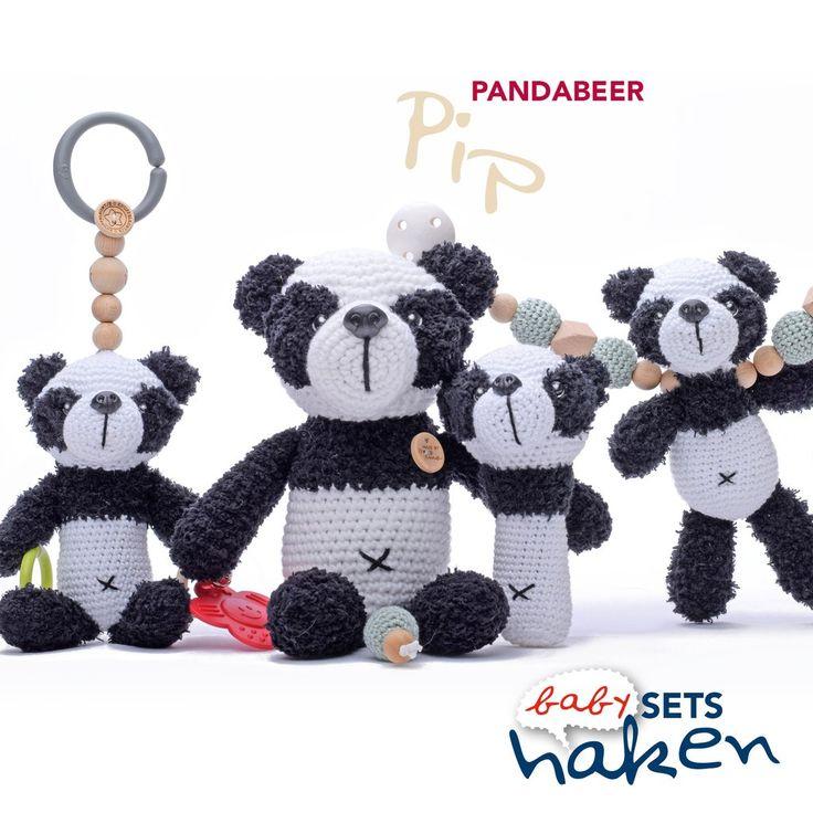 Pandabeer Pip uit babysets haken