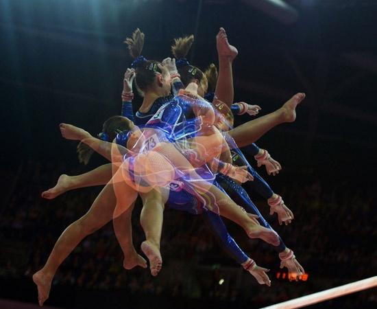 Le Olimpiadi triplicate: gli scatti multipli - Ginnastica Artistica