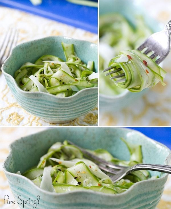 I love asparagus! I want to try this. Shaved Asparagus Salad with Parmesan via a Couple Cooks