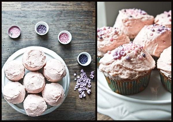 Cupcakes med jordbærmousse