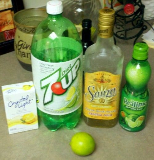 Skinny margaritas. --these look good but how can they be skinny when they add crystal lite and 7up? A real margarita is just triple sec, tequila and lime juice. Pretty skinny to me.