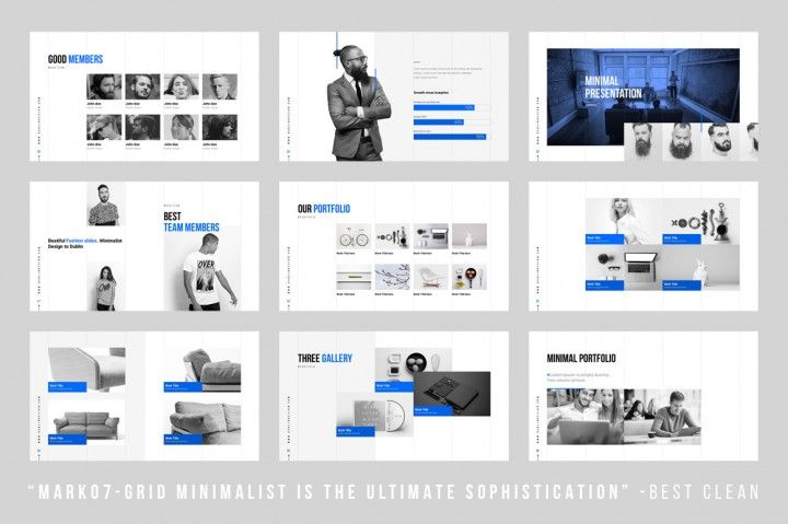 Grids - Minimal Powerpoint Template By Dublin_Design REF WEB