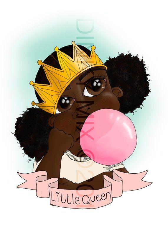 Cute Princess Bubblegum Art Playful Queen Poster Afro