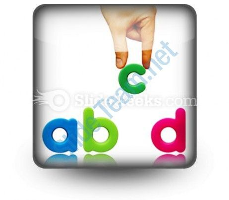 Abcd PowerPoint Icon S  Presentation Themes and Graphics Slide01