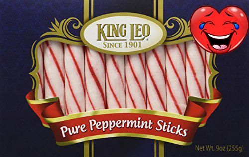 Soft Pure Peppermint Sticks from #King Leo in a 9oz box. King Leo's Pure Peppermint Sticks are made with pure cane sugar and pure peppermint oil, the original re...