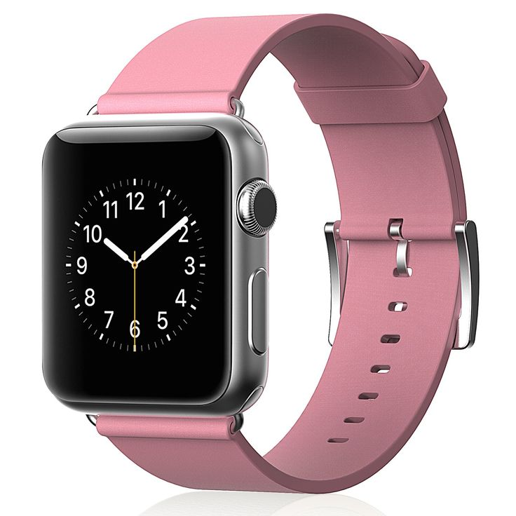 Amazon.com: Apple Watch Band, JETech® 38mm Genuine Leather Strap Wrist Band Replacement w/ Metal Clasp for Apple Watch Sport Edition 38mm (Leather - Pink): Electronics