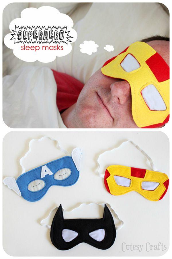 Superhero Sleep Masks Tutorial - Fun gift for Father's Day!
