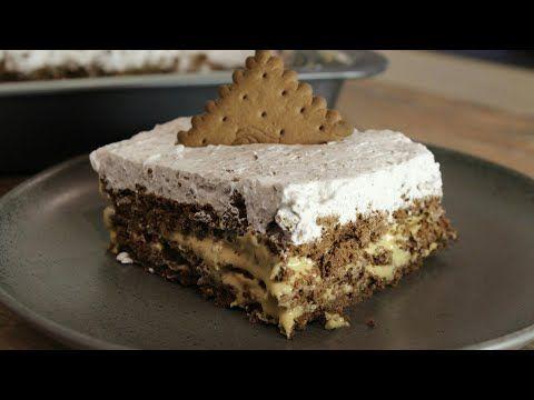 Πεντανόστιμο Γλυκό Ψυγείου με 4 ΜΟΝΟ υλικά - Caramel & Biscuits Epic Dessert with 4 Ingredients - YouTube