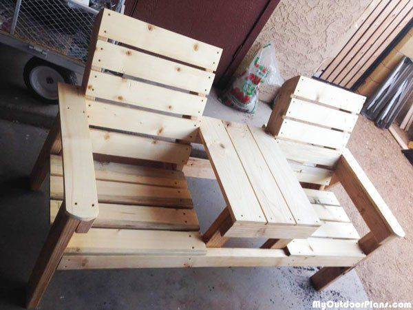 Diy Large Jack And Jill Chair Set Free Garden Bench