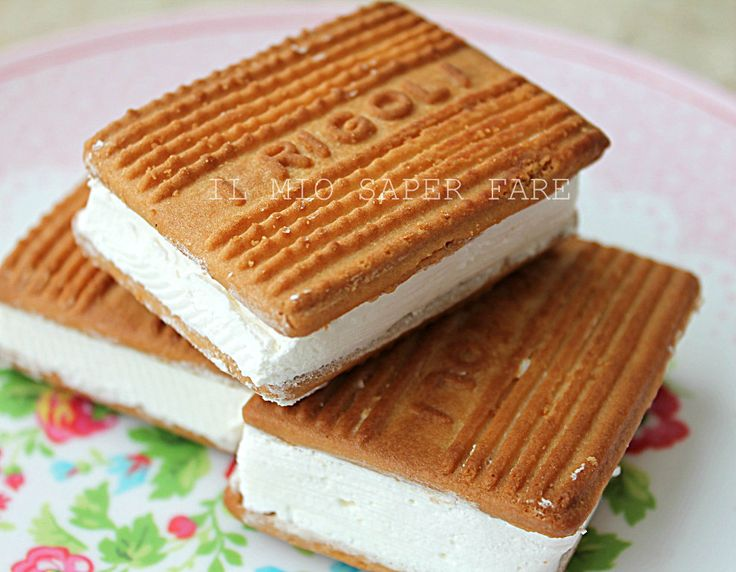 Gelato biscotto senza gelatiera  blog il mio saper fare=Cookie dough ice cream without ice cream maker know how to make my blog
