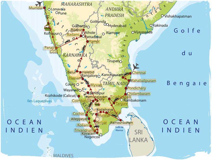 Résultats de recherche d'images pour « carte sud inde ...