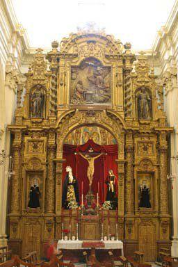 Retablo Cristo de la Sangre Iglesia de Santa Cruz. Écija