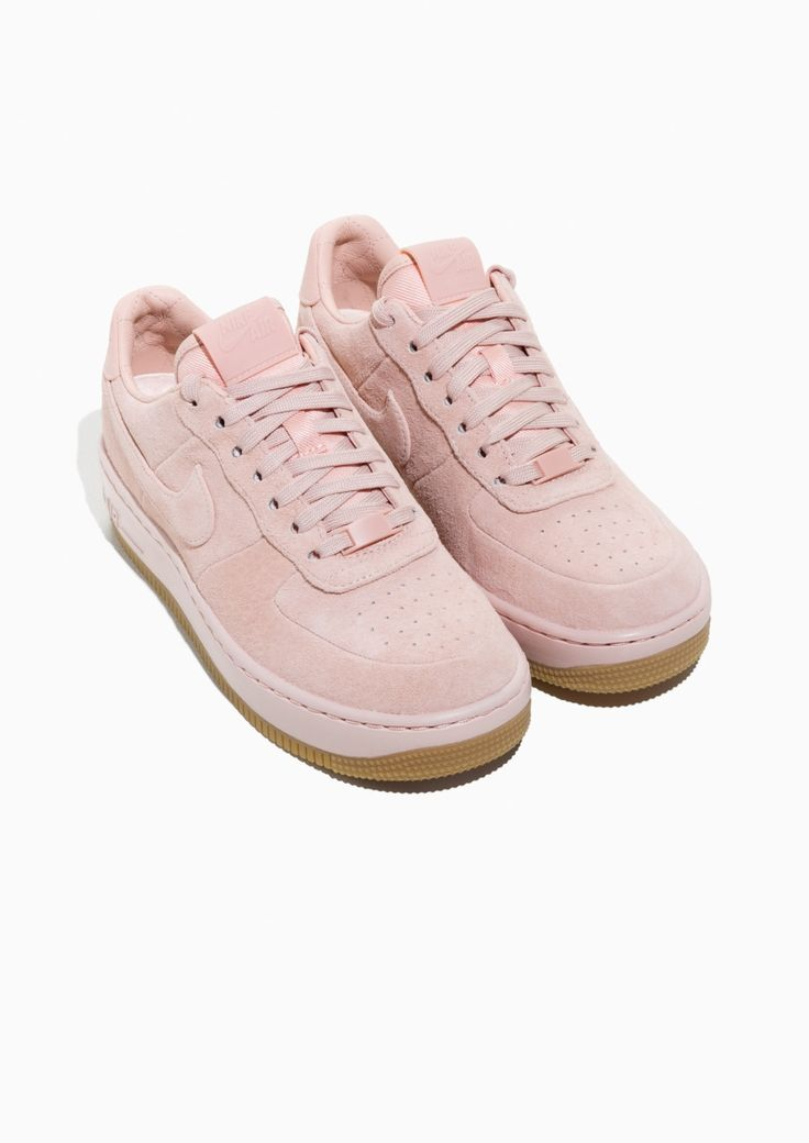 & Other Stories image 2 of Nike Air Force 1 Upstep Suede in Pink