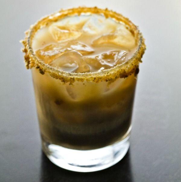 "The easy to make ""Ciroc Peach Cobbler!"" Just add Ciroc Peach, Hazelnut liqueur, and heavy cream."