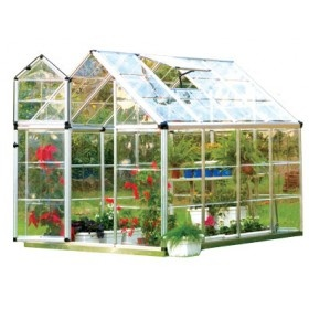 One thing on my dream list is to first get my own home and then build a greenhouse.  This website has reasonably priced packages for smaller greenhouses.