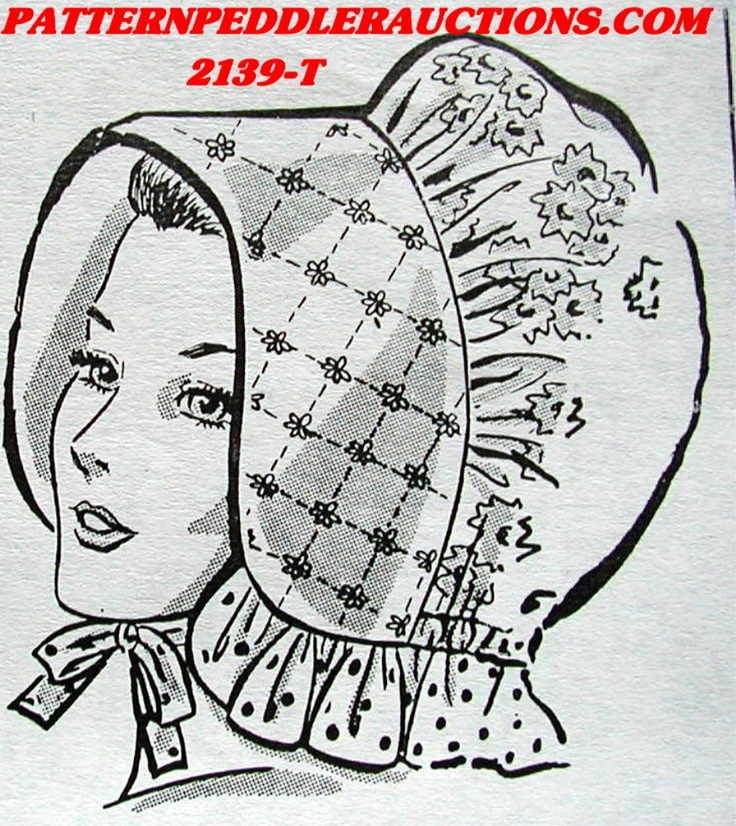 Womens Bonnet Patterns Vintage Womens Ladys Old Fashion