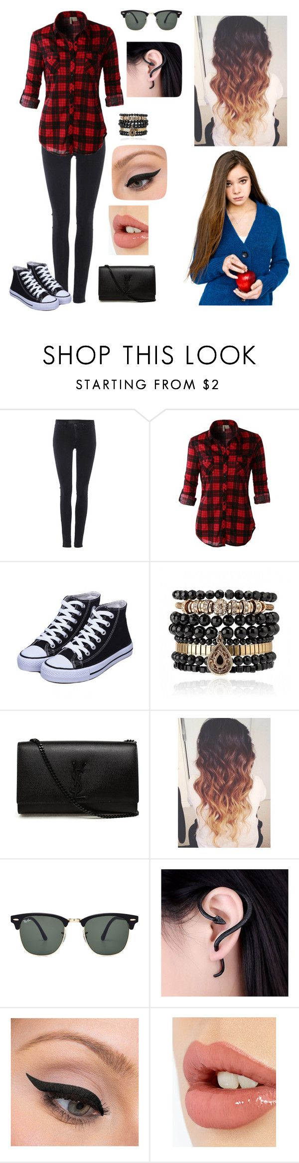 """Bianca White night - Vento Norte"" by lygia-soares ❤ liked on Polyvore featuring Samsøe & Samsøe, LE3NO, Samantha Wills, Yves Saint Laurent, Ray-Ban, LORAC, Charlotte Tilbury, women's clothing, women and female"
