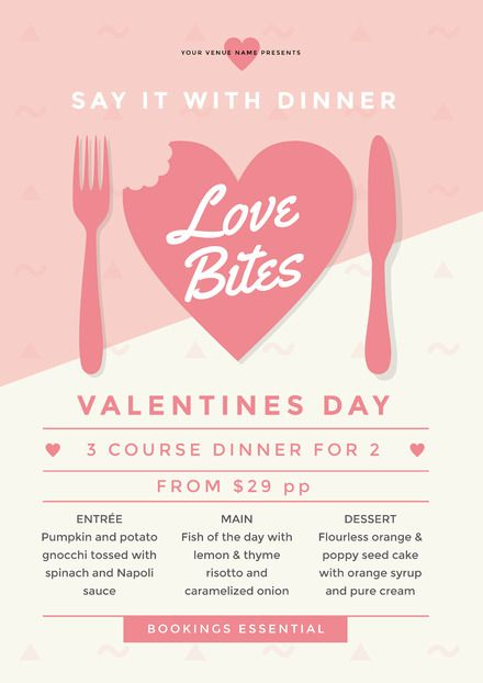 Love Bites Valentine's Day Template - Valentine's Day Template - DIY Valentine's Day Posters and Flyers. Create awesome Valentine's Day Promotions with Easil.  Drag, Drop, Designed!