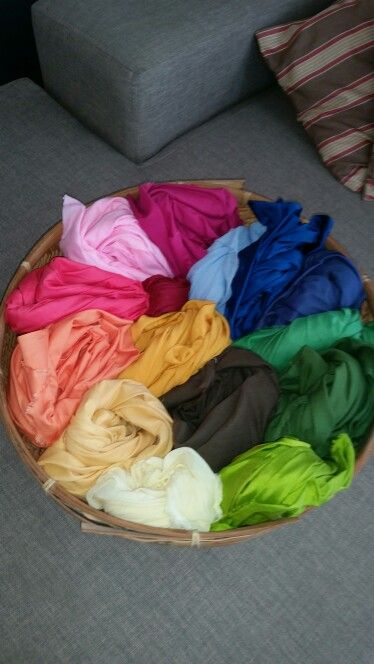 Cotton, silk and linen cloths for steiner storytelling. Delicious!