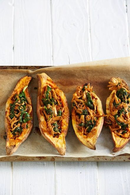 Mexican Chicken and Sweet Potato Boats - Use Chicken Breast instead