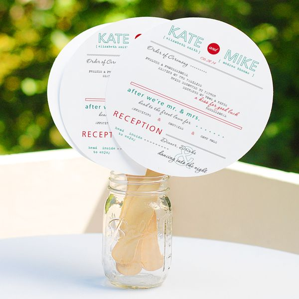 The 25 best diy wedding fans ideas on pinterest fan programs give your guests a stylish way to cool off with our diy circle fan wedding program solutioingenieria Image collections