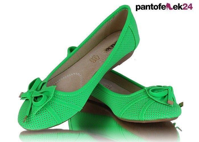 Zielona baleriny / Green ballerines / 19,50 PLN #green #ballerines #fashion #summer #spring #baleriny