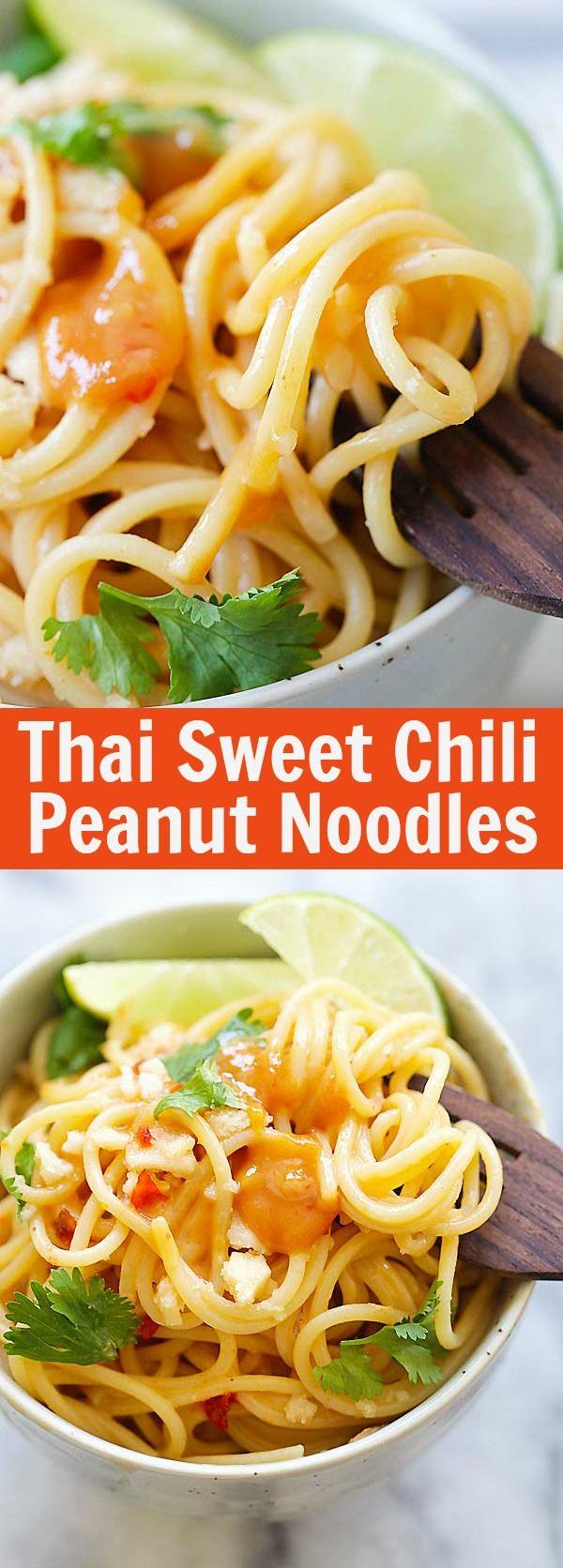 Thai Sweet Chili Peanut Noodles