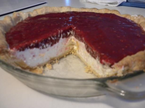 Raspberry Cream Cheese Pie from Food.com: I originally started with my Blueberry Cream Cheese Pie, then decided to try it with raspberries when they came into season. YUM! I might even like this one better? You could probably get away with using a premade graham cracker crust recipe for this one, though I'm a sucker for good pie crust. Try my All Butter Pie Crust (Pastry) recipe!