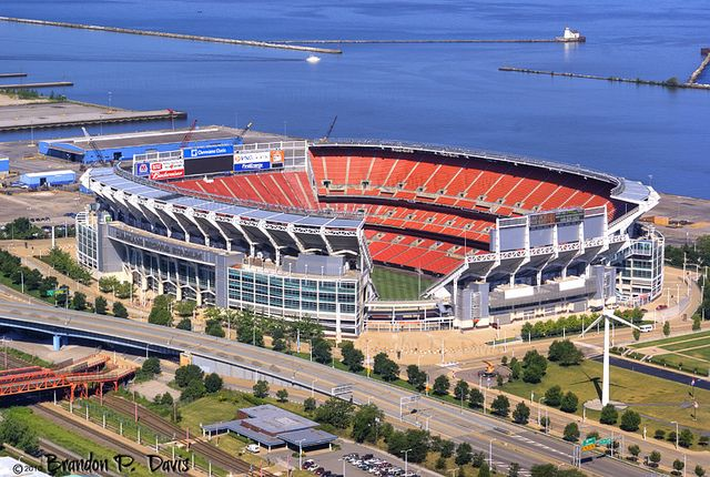 GO BROWNS!!! Cleveland Browns Football Stadium Cleveland Ohio. Lake Erie.