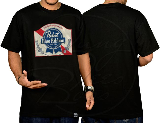 Pabst Blue Ribbon Beer Logo T-shirt For Men's