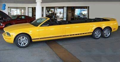 2005-2006 Mustang limo convertible. Take the neighborhood on a cruise for ice cream!