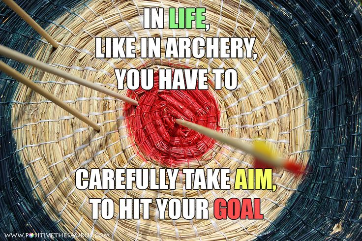 "Some thought that came into my mind last night just before sleep.  www.positivethesaurus.com - positive words for you  Take aim and hit your goal!  ps. Happy ""hunting"" to all <3  #PositiveSaurus #Archery #Quote #MotivationalQuotes #InspirationalQuotes #PositiveWords"