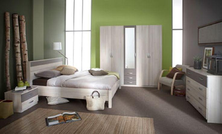 De Alabama is een moderne slaapkamer uitgevoerd in de kleur Accacia.