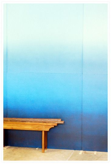 ombre walls. so cute in a nursery. would be lovely on a huge wall that goes up the stairs, too...!