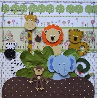 Zoo animal card. Giraffe, lion, monkey, tiger, elephant, zebra and snake