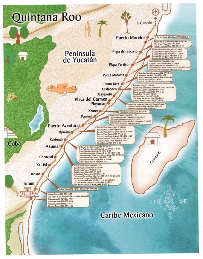 map tulum mexico mapmexico vacationmayan